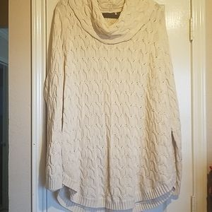 Jeanne Pierre 2x Ivory Sweater Tunic